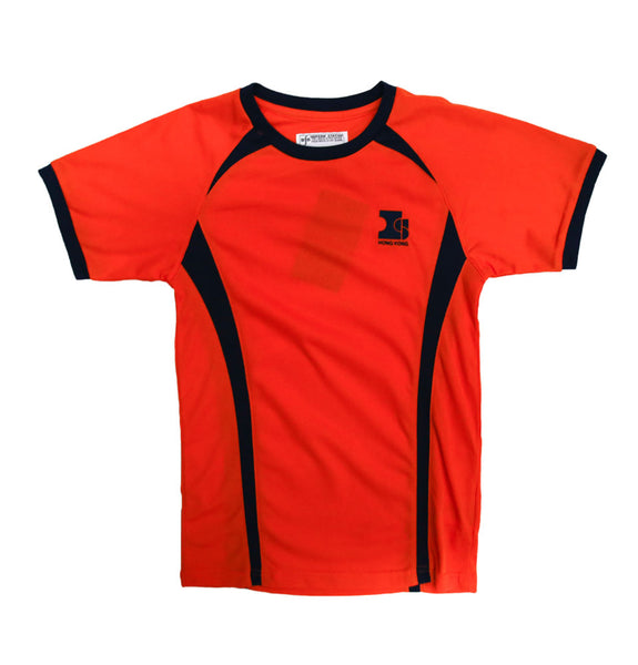 Island School Orange PE Top Drifit