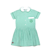 PS Girls Dress, Green & White Checked Print