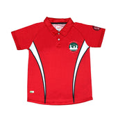 PS Unisex PE Polo Shirt, Red - Victoria