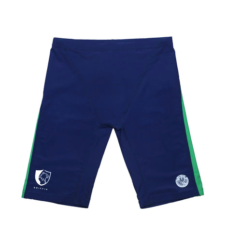 Sha Tin College TYR Boys Jammer Swimsuits, Green - Griffin