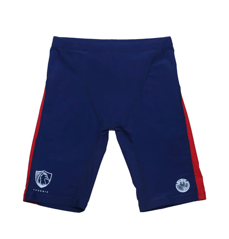 Sha Tin College TYR Boys Jammer Swimsuits, Red - Pheonix