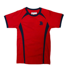 Island School Red PE Top Drifit