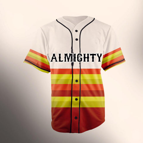 ALMIGHTY Customize Your Org Golden Striped Baseball Jersey - Almighty Jerseys Jersey Customs Greek Life