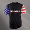 Chi Omega Black USA Stars and Stripes Baseball Jersey - Almighty Jerseys Jersey Customs Greek Life