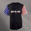 Delta Chi Black USA Stars and Stripes Baseball Jersey - Almighty Jerseys Jersey Customs Greek Life