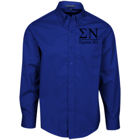 Sigma Nu Officially Licensed (Assorted Colors) Long Sleeve Dress Shirt - Almighty Jerseys Jersey Customs Greek Life