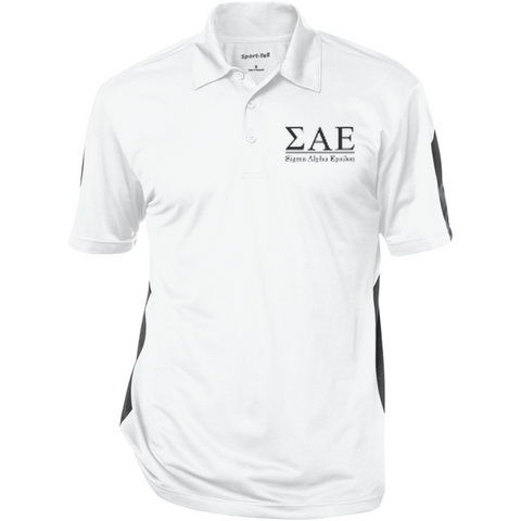 Sigma Alpha Epsilon Officially Licensed (Assorted Colors) Performance Textured Three-Button Polo - Almighty Jerseys Jersey Customs Greek Life
