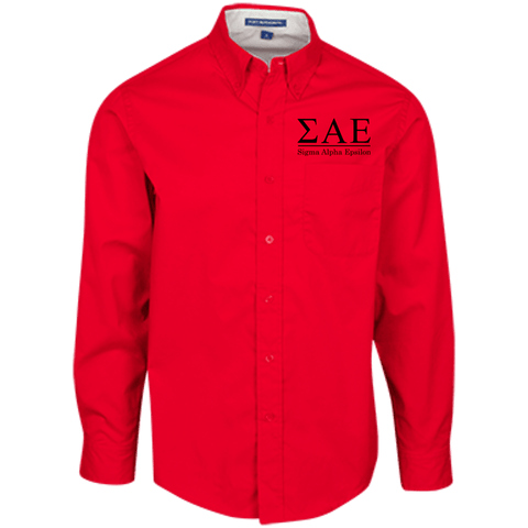 Sigma Alpha Epsilon Officially Licensed (Assorted Colors) Long Sleeve Dress Shirt - Almighty Jerseys Jersey Customs Greek Life