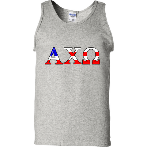 Alpha Chi Omega USA Officially Licensed (Assorted Colors) Tank Top - Almighty Jerseys Jersey Customs Greek Life