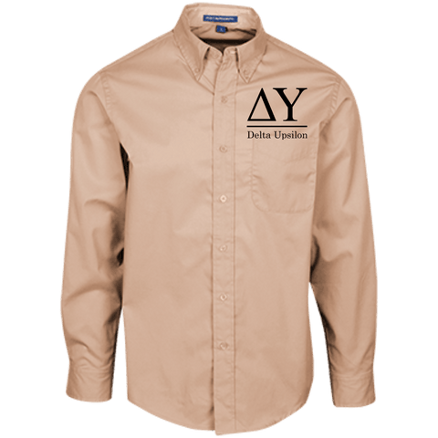 Delta Upsilon Officially Licensed (Assorted Colors) Long Sleeve Dress Shirt - Almighty Jerseys Jersey Customs Greek Life