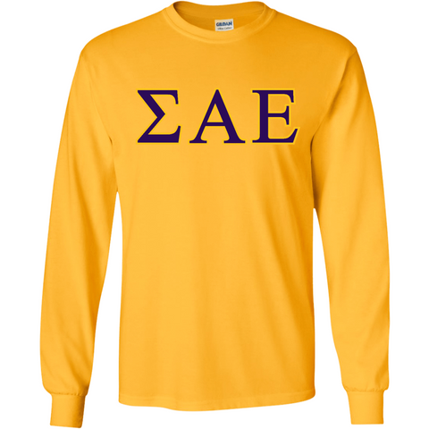 Sigma Alpha Epsilon Officially Licensed (Assorted Colors) long Sleeve T-Shirt - Almighty Jerseys Jersey Customs Greek Life