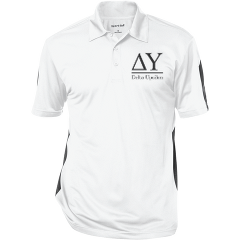 Delta Upsilon Officially Licensed (Assorted Colors) Performance Textured Three-Button Polo - Almighty Jerseys Jersey Customs Greek Life