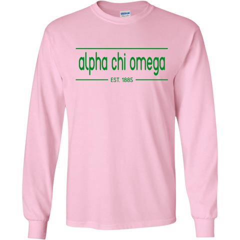 Alpha Chi Omega Officially Licensed (Assorted Colors) Long Sleeve T-Shirt - Almighty Jerseys Jersey Customs Greek Life