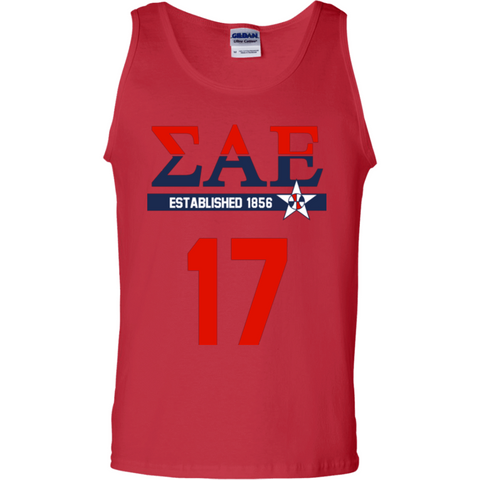 Sigma Alpha Epsilon  Officially Licensed (Assorted Colors) Tank Top - Almighty Jerseys Jersey Customs Greek Life