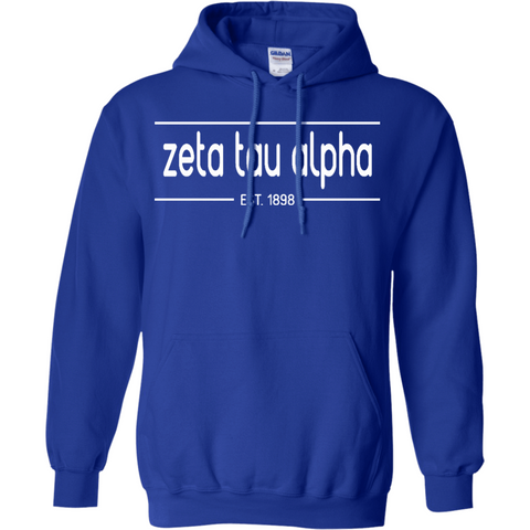 Zeta Tau Alpha Officially Licensed (Assorted Colors) Pullover Hoodie - Almighty Jerseys Jersey Customs Greek Life
