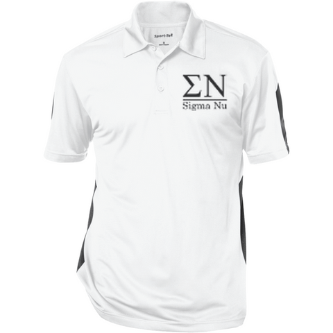 Sigma Nu Officially Licensed (Assorted Colors) Performance Textured Three-Button Polo - Almighty Jerseys Jersey Customs Greek Life