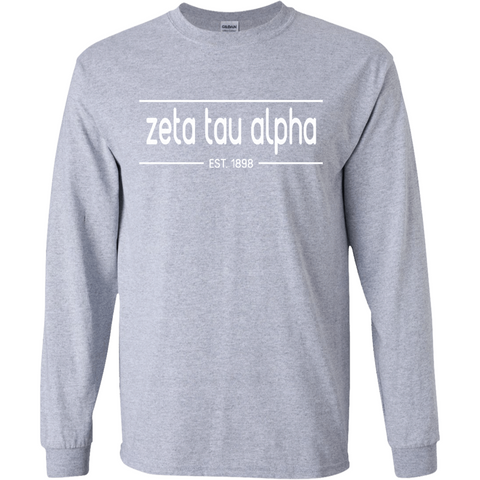 Zeta Tau Alpha Officially Licensed (Assorted Colors) Long Sleeve T-Shirt - Almighty Jerseys Jersey Customs Greek Life