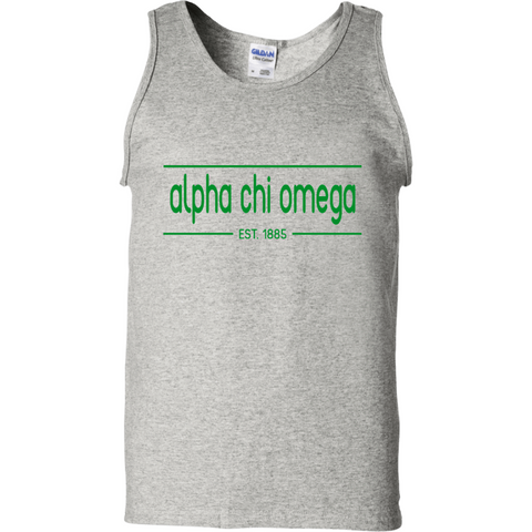 Alpha Chi Omega Officially Licensed Tank Top(Assorted Colors) - Almighty Jerseys Jersey Customs Greek Life