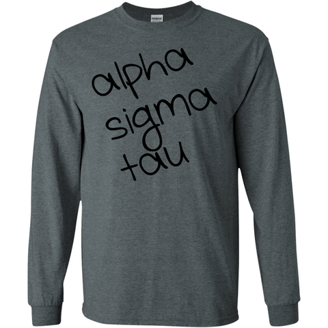 Alpha Sigma Tau Officially Licensed (Assorted Colors) Long Sleeve T-Shirt - Almighty Jerseys Jersey Customs Greek Life