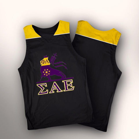 ALMIGHTY Customize Your Org Lakers Theme Basketball Jersey - Almighty Jerseys Jersey Customs Greek Life