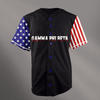 Gamma Phi Beta Black USA Stars and Stripes Baseball Jersey - Almighty Jerseys Jersey Customs Greek Life
