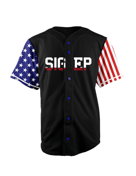ALMIGHTY Customize Your Org Black USA Baseball Jersey - Almighty Jerseys Jersey Customs Greek Life