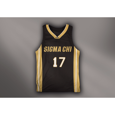 Sigma Chi Black n Gold Basketball Jersey - Almighty Jerseys Jersey Customs Greek Life