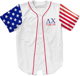 Delta Chi USA Stars and Stripes Baseball Jersey - Almighty Jerseys Jersey Customs Greek Life