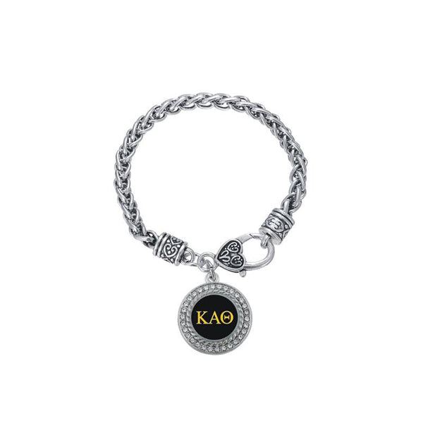 Kappa Alpha Theta Steel Lock and Heart Bracelet - Almighty Jerseys Jersey Customs Greek Life
