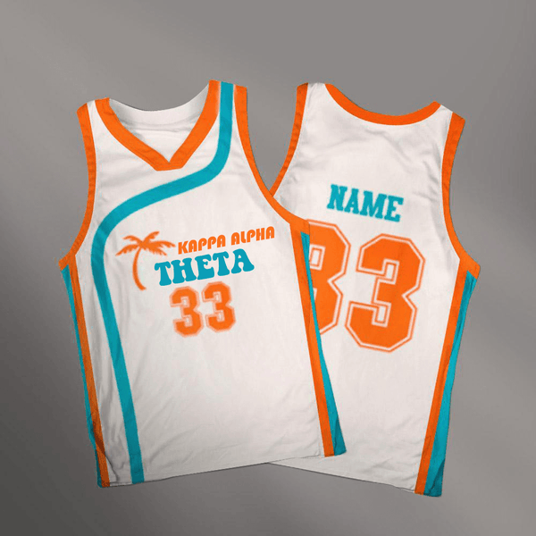Kappa Alpha Theta Flint Tropics Basketball Jersey - Almighty Jerseys Jersey Customs Greek Life