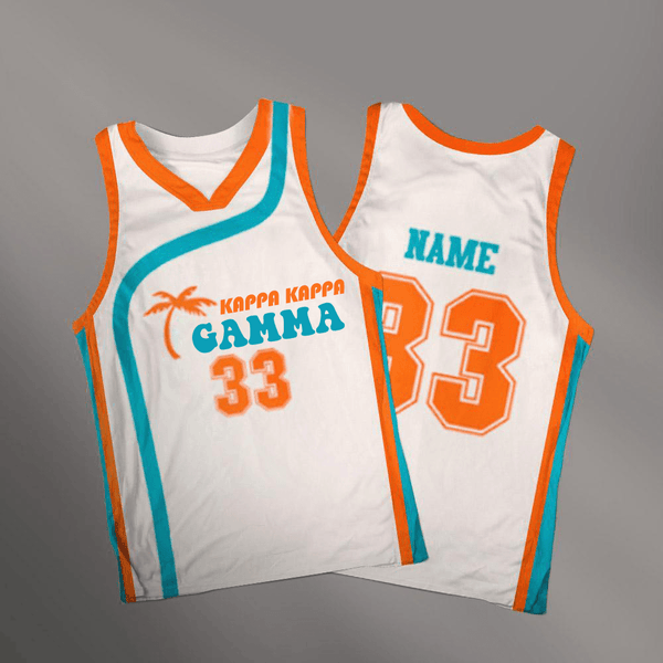 Kappa Kappa Gamma Flint Tropics Basketball Jersey - Almighty Jerseys Jersey Customs Greek Life