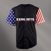Kappa Delta Black USA Stars and Stripes Baseball Jersey - Almighty Jerseys Jersey Customs Greek Life