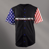 Phi Gamma Delta Black USA Stars and Stripes Baseball Jersey - Almighty Jerseys Jersey Customs Greek Life