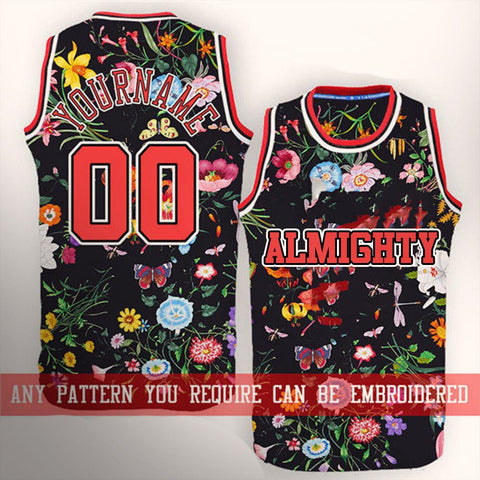 ALMIGHTY Customize Your Org Floral Basketball Jersey - Almighty Jerseys Jersey Customs Greek Life