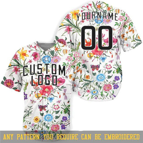 ALMIGHTY Customize Your Org Floral Baseball Jersey - Almighty Jerseys Jersey Customs Greek Life