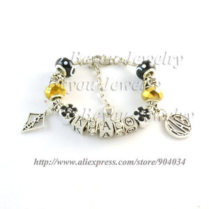Kappa Alpha Theta Charms and Gems Bracelet - Almighty Jerseys Jersey Customs Greek Life