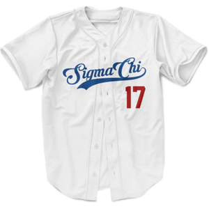 Sigma Chi Dodgers Themed Baseball Jersey - Almighty Jerseys Jersey Customs Greek Life