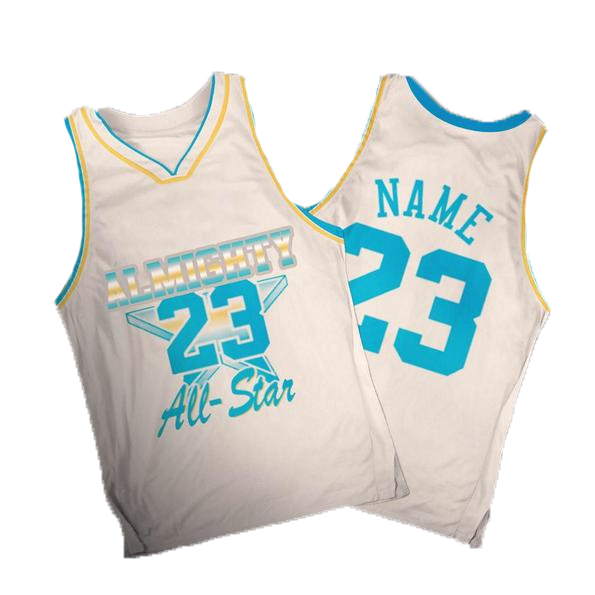 ALMIGHTY Customize Your Org White Star Basketball Jersey - Almighty Jerseys Jersey Customs Greek Life
