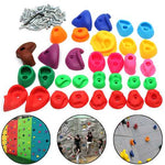 Children's Climbing Wall Stones Holds Hand Feet Starter Kit Rock Holder w/Screws