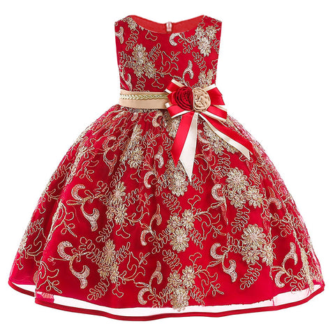 Girl's Christmas Party Dress