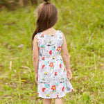 Playful Kitty Cat Little Girls Dress
