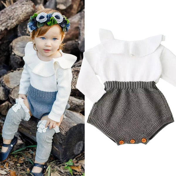 Cute baby Knitting Romper - Debbie's Kids Boutique