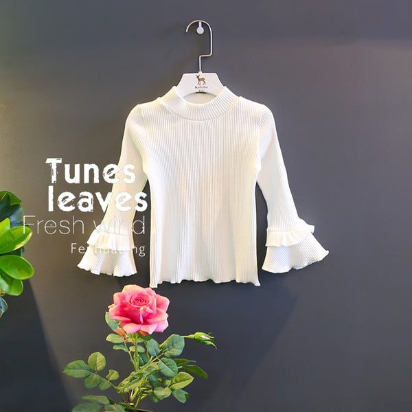 Girls flare long sleeve fashion Tops