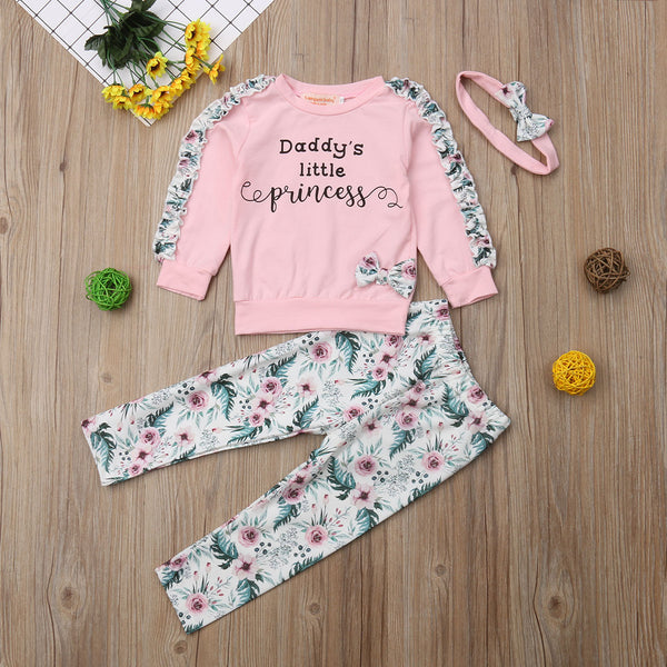 Daddy's Little Princess 3 pcs set - Debbie's Kids Boutique