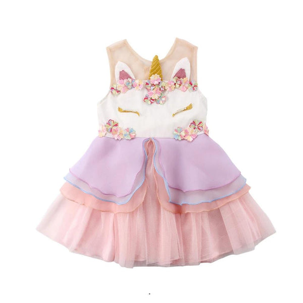 Lia's Unicorn Dress - Debbie's Kids Boutique