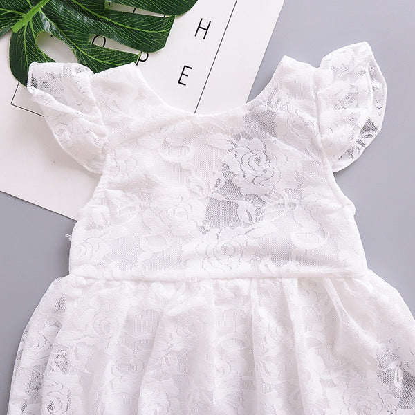 Baby Lace Christening Romper