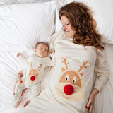 Mommy and Baby matching holiday pj's