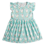 Ruffle Sleeve Printed Baby Girl Fairy Dress