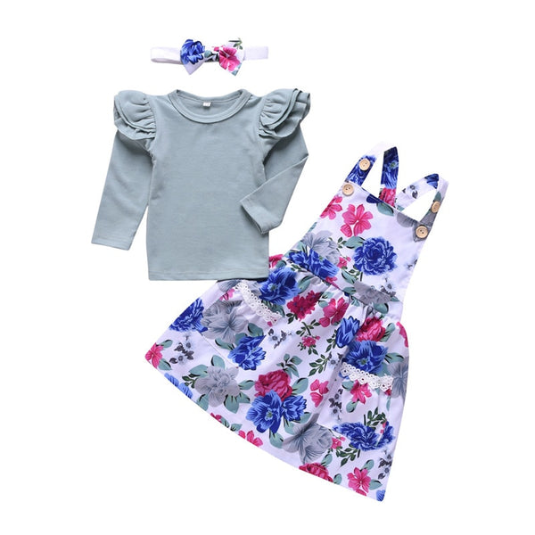 Floral Baby Girl 3 pcs outfit