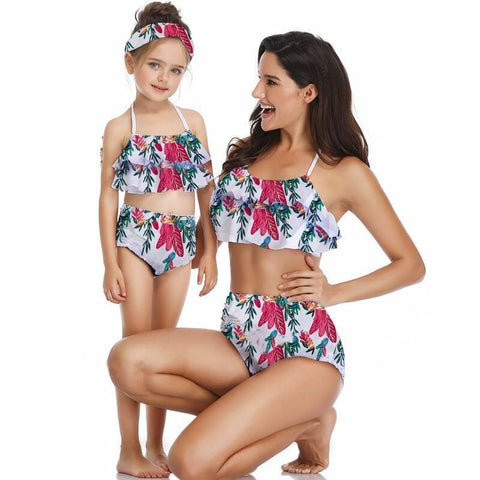 Mother and Daughter matching Floral Swimsuit
